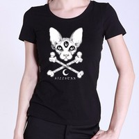 Nuovo harajuku 3d gotico donne t-shirt hiphop stampa marca clothing o neck t shirt magliette e camicette magliette e camicette punk cotone manica corta camicette blusa