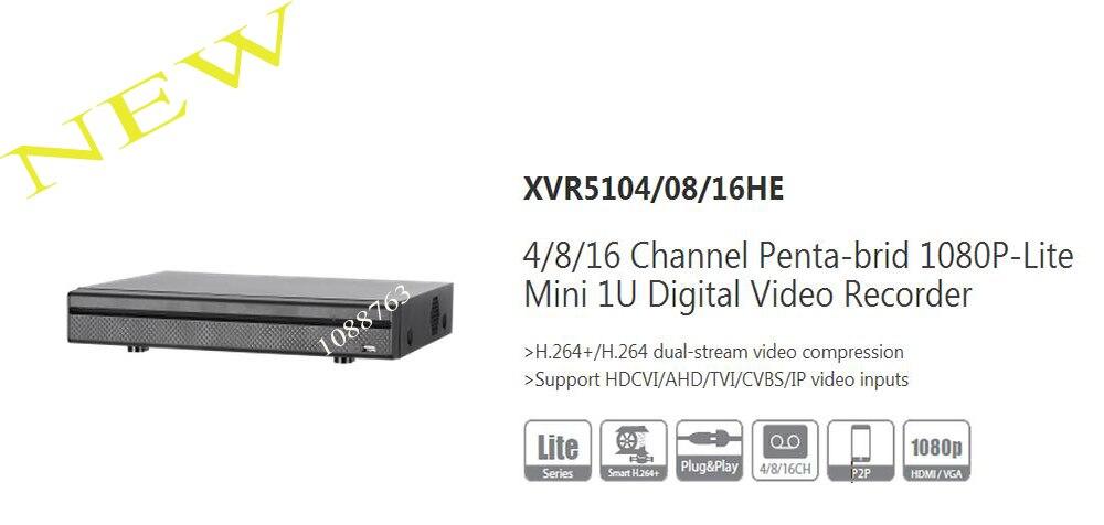 Dahua 4/8/16 канала пента-Брод 1080p-lite мини 1u цифрового видео Регистраторы без логотипа xvr5104he/ xvr5108he/xvr5116he