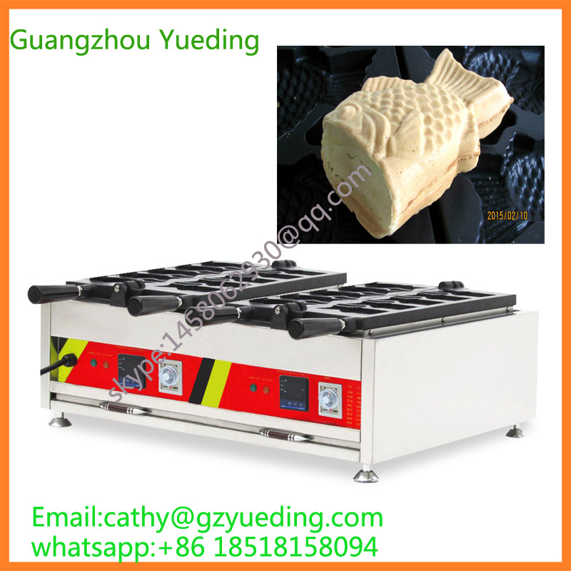 AutomaticTaiwan double taiyaki machine Open mouth fish waffle maker machine,taiyaki pan fish waffle maker korea street food fish shape with electric open mouth taiyaki waffle maker