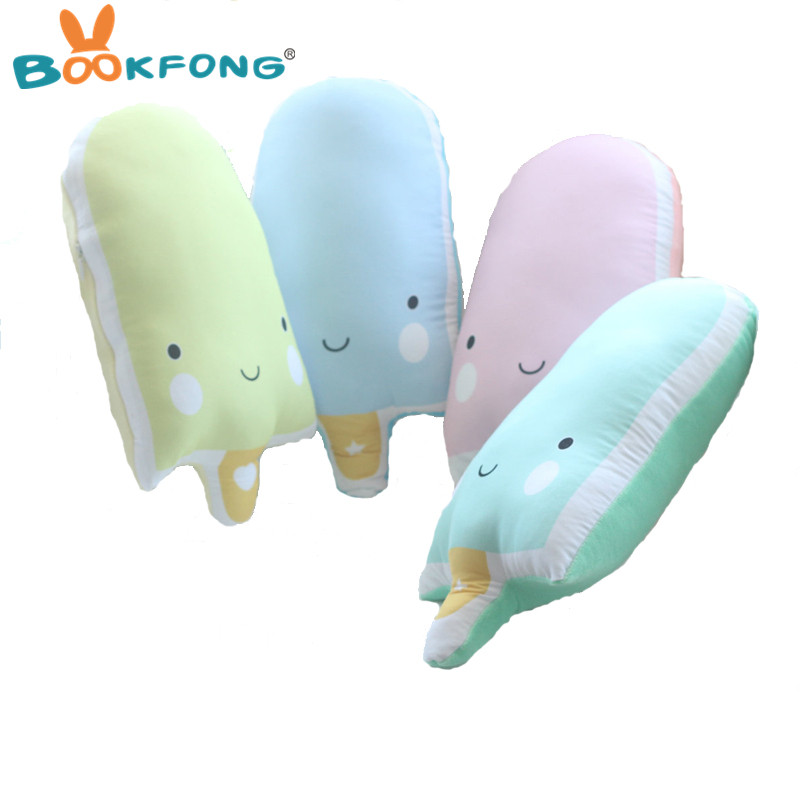 BOOKFONG 1PC 33CM Creative Cartoon Popsicle Pillow Plush Doll Toy Ice Pop ice Cream Plush Doll Present Toy Home Decor