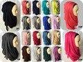 Um Pedaço Hijab Hijabs Moda Camisa Lisa Deslizamento Mulheres Viscose Lenço do Xaile do Envoltório 200*60 cm Top de Grandes Dimensões Em Euros Freeshipping