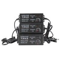 Универсальный адаптер питания Регулируемый AC к DC 3 V-12 V 3 V-24 V 9 V-24 V дисплей экран напряжение Регулируемый питания adatpor 3 12 24 v