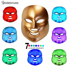 7 Colors Beauty Therapy Photon LED Facial Mask Light Skin Care Rejuvenation Wrinkle Acne Removal Beauty Spa Skin Care Led Mask цена