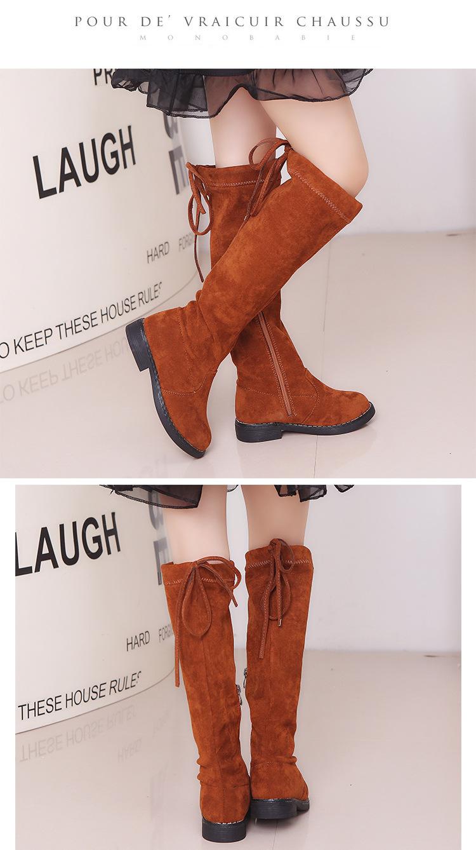 Princesa moda Primavera invierno botas negro rojo marrón Size26-37 Casual  niños calzado Vintage zapatos niñas rodilla-Botas largas. undefined  undefined 302ee7f16f314