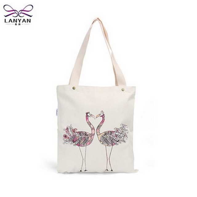 Fashion Floral Printed Canvas Tote Female Single Shopping Bags Large Capacity Women Canvas Beach Bags Casual Tote Feminina
