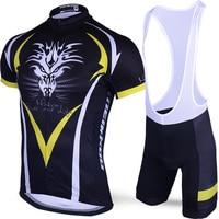 Original Meikroo Drango Cyclist Yellow Bib Short Sleeve Cycling Jersey Sets Bicycle Race Evo Cycling Maillot