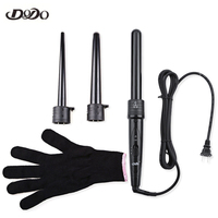 Professional Hair Care Curling Wand Interchangeable 3 Parts Clip Iron Hair Curler Set Hair Styling Tools