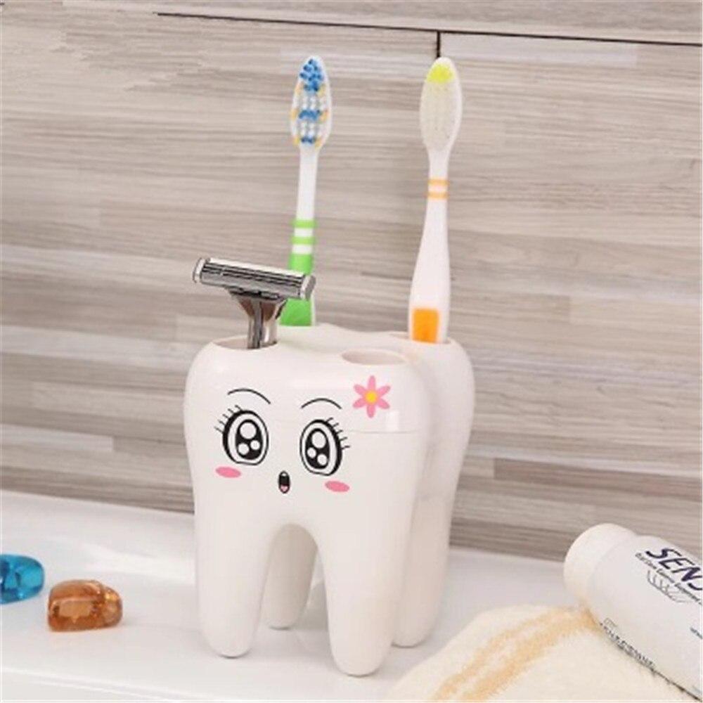 Hot Sale! 1 Pcs Lovely Teeth Style Toothbrush Holder Stand Brush Rack Tooth Brush Shelf  Shaving Razor Holder With Gift Box