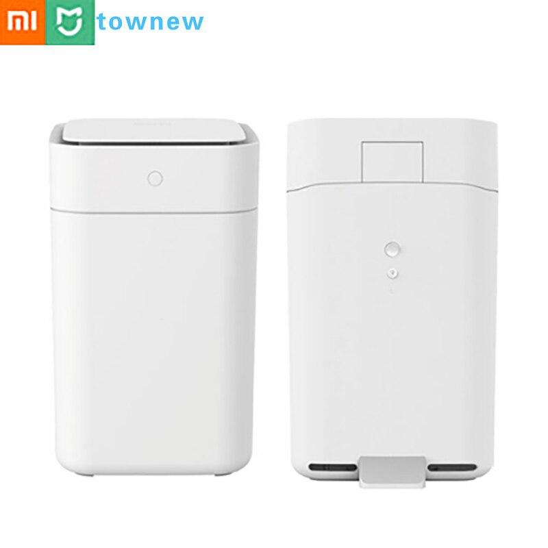 Xiaomi Townew poubelle intelligente capteur de mouvement Auto étanchéité Induction couvercle cendrier LED Induction couvercle poubelle 15.5L Mijia