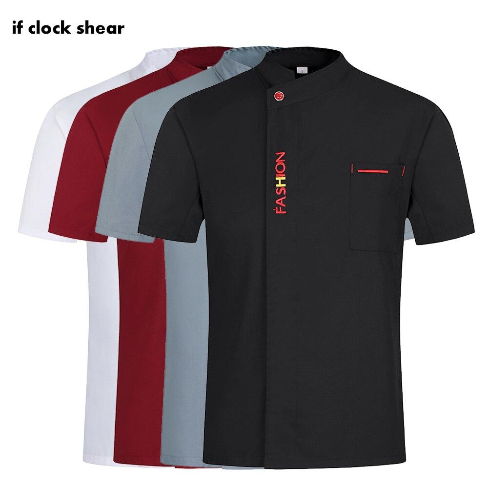 High Quality Restaurant Chef Uniforms Kitchen Work Clothes Men Short Sleeves Hotel Work Jackets M-4XL Chef Coats Men And Women