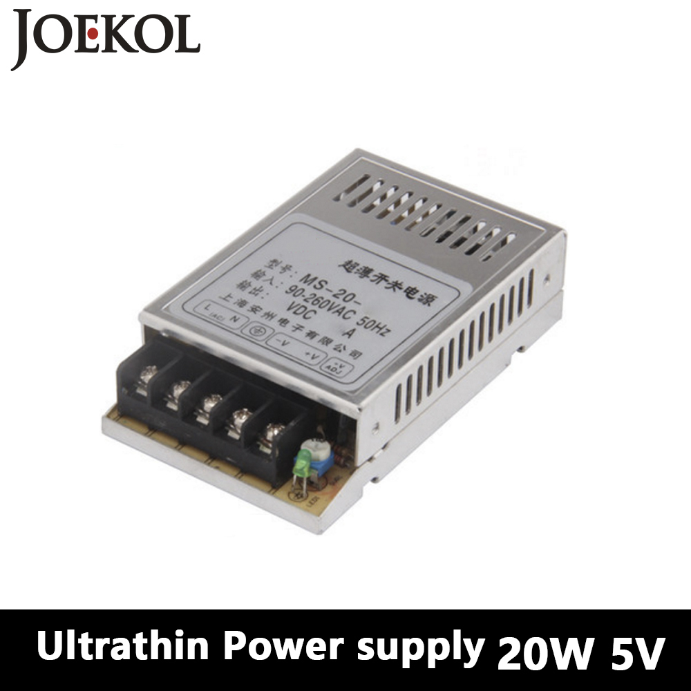 Mini switching power supply 20W 5V 4A,Single Output dc power supply for Led Strip,AC110V/220V Transformer to DC 5V,led driver