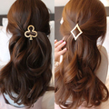 AIWGX Vintage Gold/ Silver Color Metal Poker shape Hairpin Girls' Hair Clips Women Fashion Hair Accessories