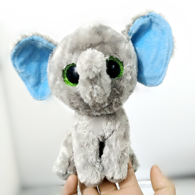 6   15cm Ty Beanie Boos Sugar Elephant Grey Beanie Baby Plush Stuffed Doll  Toy Collectible Soft Big Eyes Plush Toys S183 2f1fc914ac4
