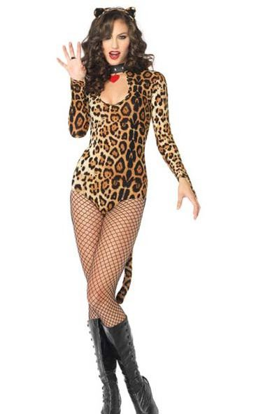 Sexy Adult Animal Costumes Free Shipping Wicked Wild Cat Costume 3S1134 Hot Sale Sexy Costumes Women