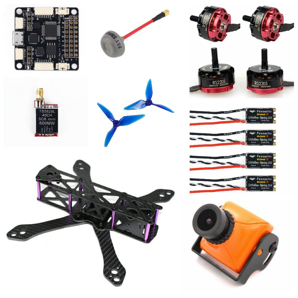 Martian 230 FPV Racing Drone Quadcopter LittleBee BLHeli_S 20A DSHOT ESC F3 F4 Emax RS2205 2300KV 5051 Prop Eachine Wizard X220 5 tx 210 fpv racing drone quadcopter emax r2205s 2300kv f4 flight control littlebee blheli s esc dshot spring 30a 5051 props
