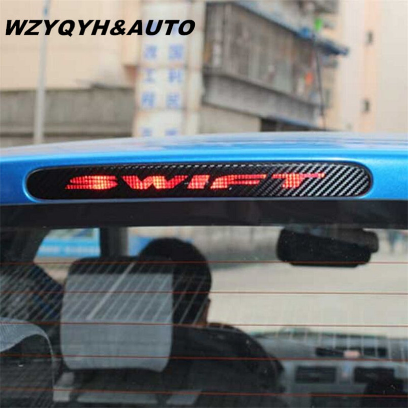 Carbon Fiber Stickers And Decals High Mounted Stop Brake Lamp Light Car Styling for Suzuki Swift Additional Brake Light Sticker free shipping 7 inch fpv display screen aerial lcd screen snow uav image transmission in wireless 5 8g receiver