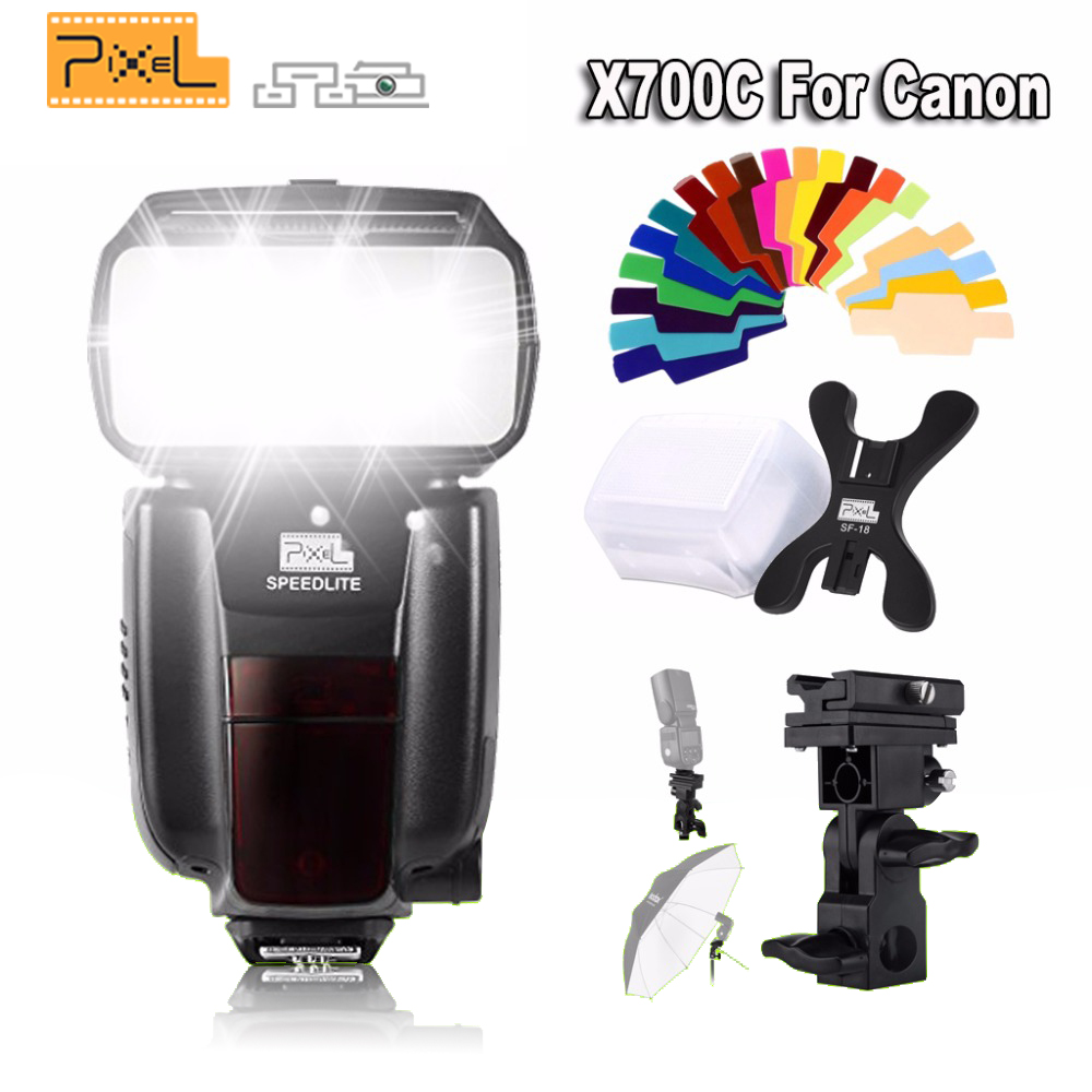 INSEESI Wireless X700C GN60 TTL High Speed Master Flash Speedlite for Canon DSLR Cameras VS PIXEL X800C X800C PRO YN560III spash sl 685c gn60 wireless master slave flash light ttl speedlite for nikon lcd screen cameras flash adjustable fill light