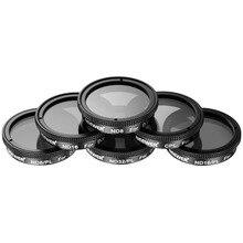 Neewer 6 шт. Алюминий Рамка Фильтры комплект для DJI Phantom 4, Phantom 3 advanced + Professional: CPL + ND8 + ND16 + ND8/pl + ND16/pl + ND32/pl