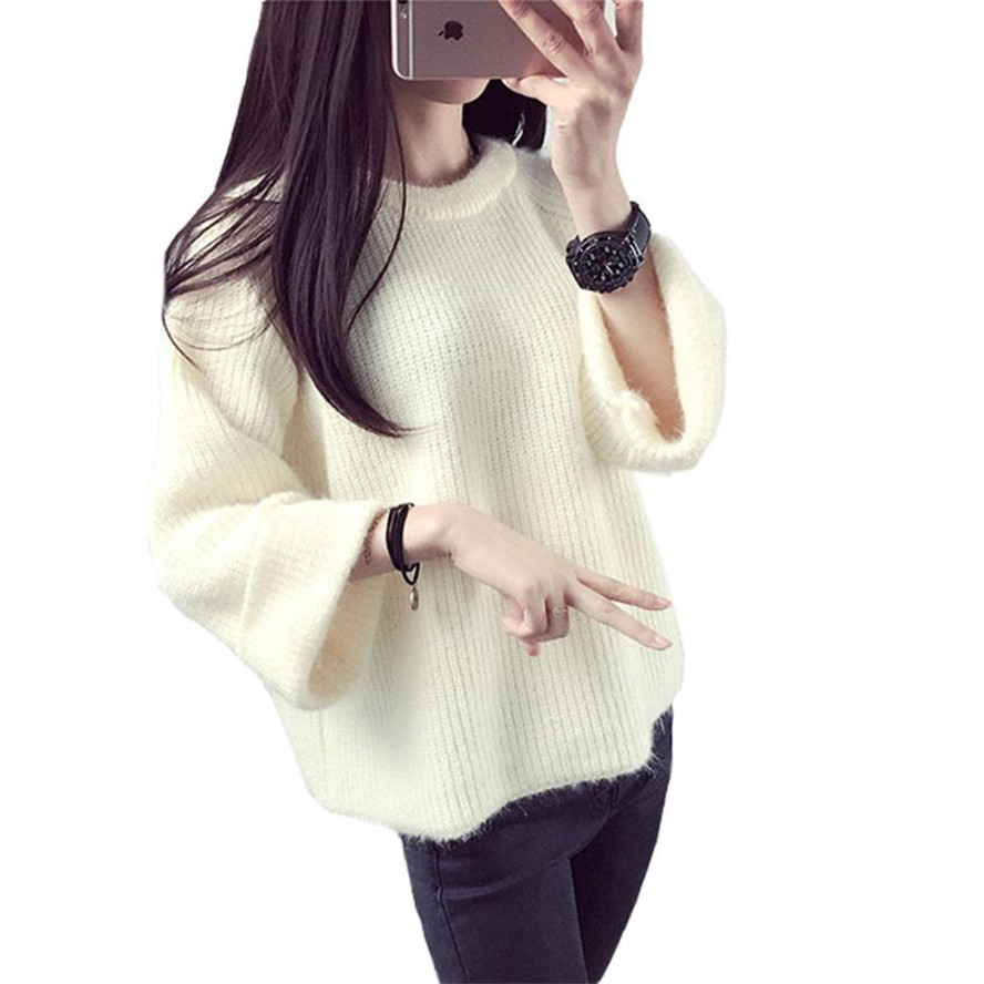 Free Ostrich Women Pullover Sweater 2020 Winter Warm Pullovers High Quality Candy Colors pull femme Comfort Soft Wool Oct5