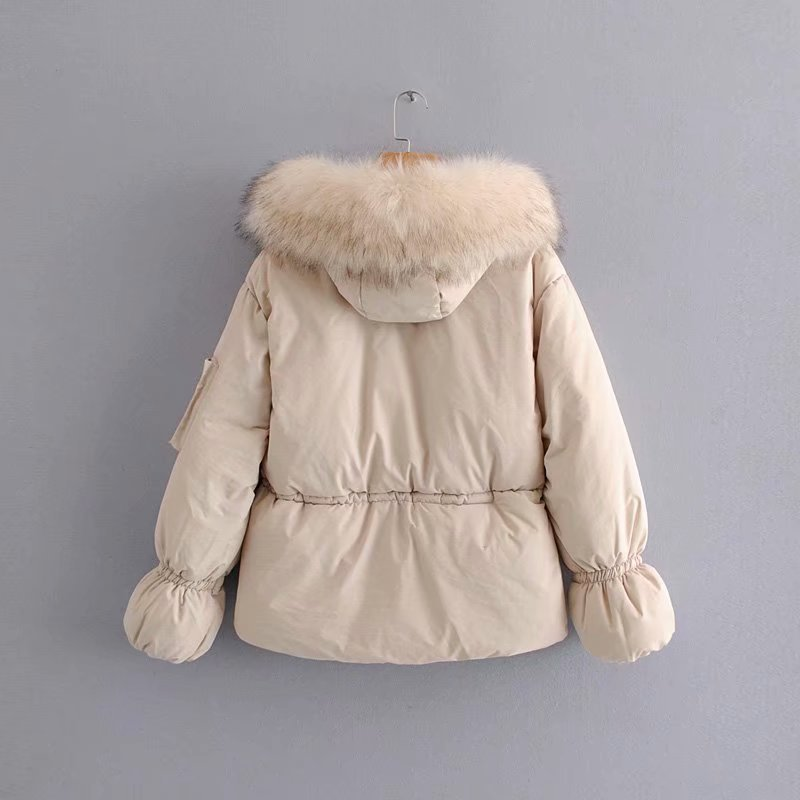 Épaississement 2 Coton Dames Col Chaud Fourrure Veste De Confortable Mince Taille Grand 1 Cordon pqZSY