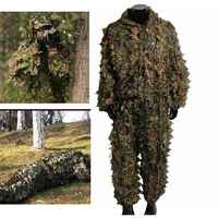 Ghillie costume ensemble Sport de plein air CS Camouflage costumes 3D Camo bionique feuille Jungle bois Airsoft jeux de guerre Sniper vêtements de chasse