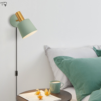 Bắc Âu Ins Mở Dòng Đèn Tường LED E14 Kim Loại Đầu Giường Phòng Ngủ Phòng Khách Đọc Thời Trang Sang Trọng Hiện Đại Sáng Tạo Trang Trí Nhà