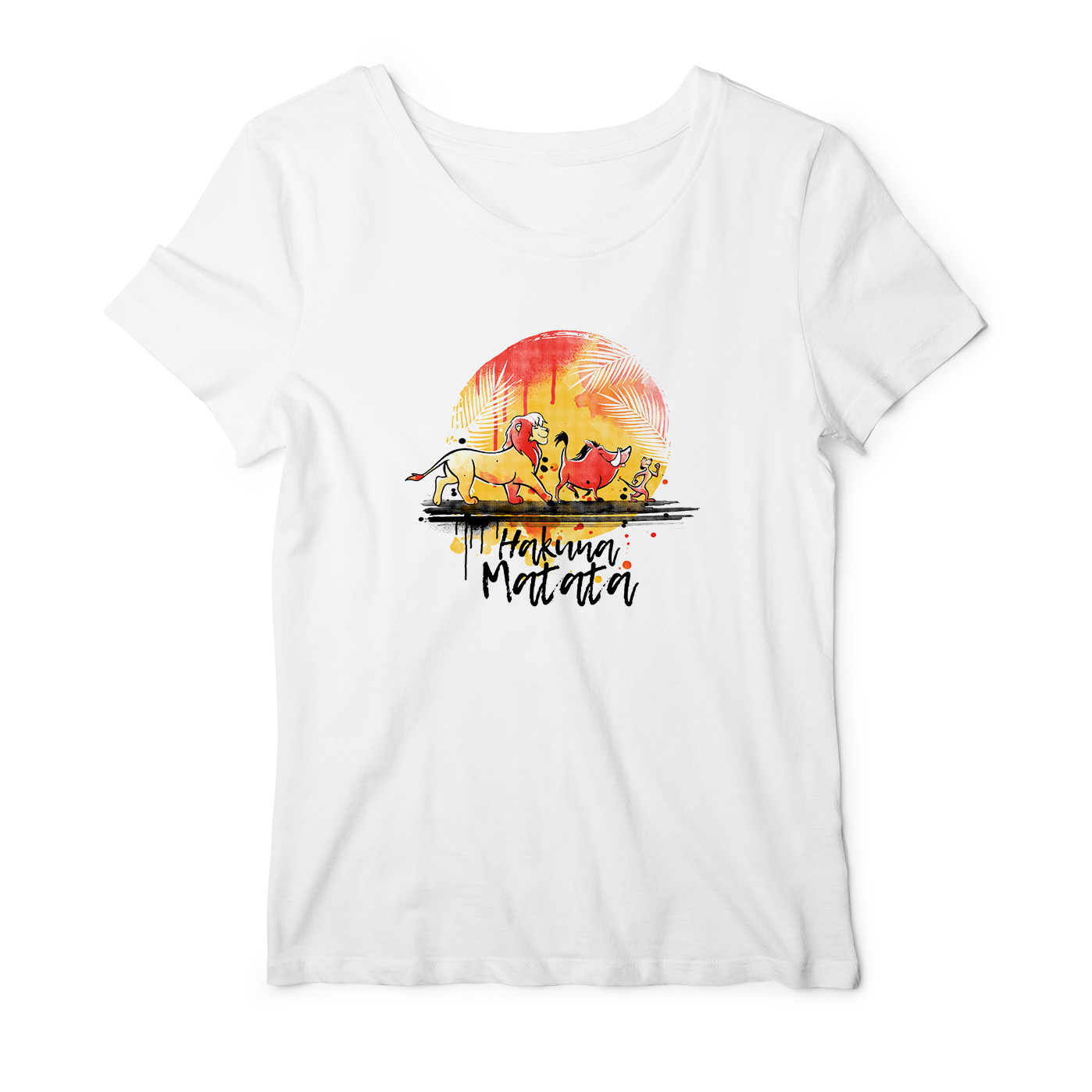 <font><b>Hakuna</b></font> <font><b>Matata</b></font> Print Casual Short Sleeve Tee Top Summer Women Tshirt Timon&Pumbaa&Simba The <font><b>Lion</b></font> <font><b>King</b></font> T-shirts image