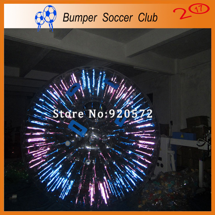 Factory Customize! Free shipping! Dia 3M Inflatable Light Zorbing Ball Inflatable Glow Zorb Ball Shinning Inflatable Zorb Ball 2 6m pink zorbing ball for sale free dhl shipping