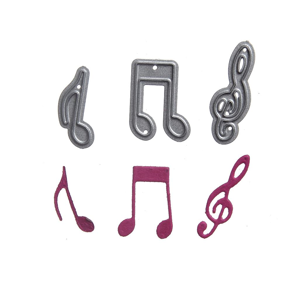 New Lovely mini music notation DIY Metal Embossing Cutting Dies Craft festival decoration Cards Album Scrapbooking Dies Stencil