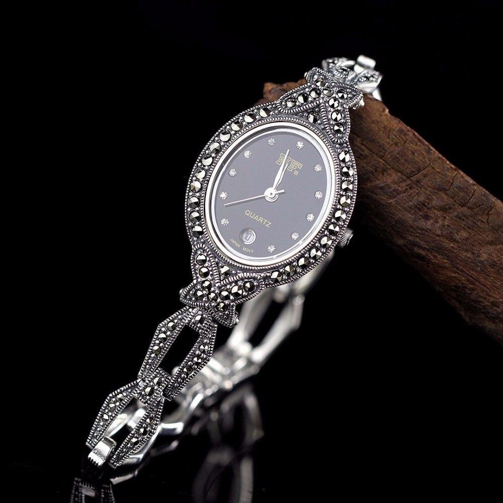 New Arrivals Vlinder Zilveren Horloge Top Kwaliteit S925 Zilveren Sieraden Horloge Echte Pure Zilveren Armband Horloges Echte Zilveren Bangle - 2