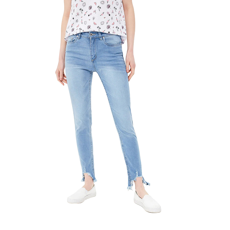 Jeans MODIS M181D00292 women pants  clothes apparel for female TmallFS цены онлайн