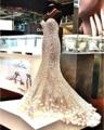Loverxu Elegant Querida Flor Frisado Longo Sereia Vestidos de Noite 2016 Sexy Cristal Lantejoulas Trompete Vestido Para Festa Plus Size