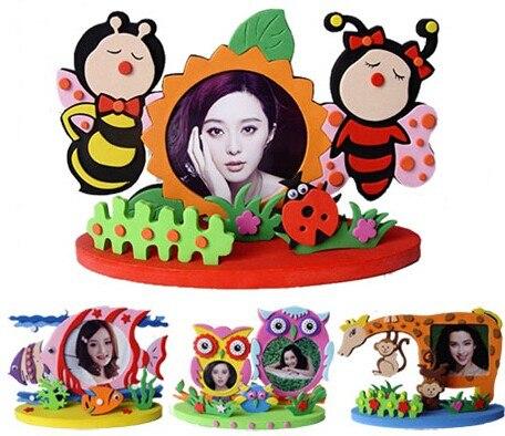 Animal Photo Frames Eva Foam Sticker Self Adhesive Kids Children Diy Crafts Toys Goldfish