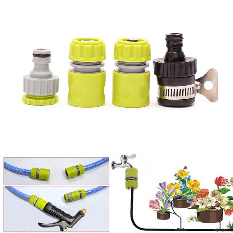 Conveniente 4 Uds. Adaptador de conexión rápida de 1/2 pulgadas accesorios de Conector de tubo de manguera de agua accesorios de jardín FP8 ST12