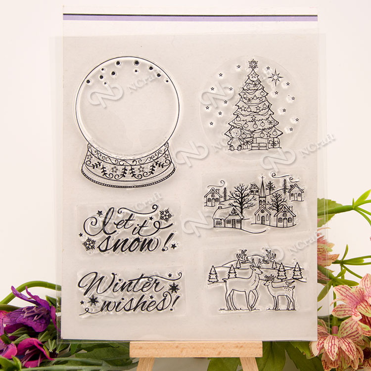 The crystal ball Clear Silicone Stamp for DIY scrapbooking/photo album Decorative craft angel and trees clear stamp variety of styles clear stamp for diy scrapbooking photo album wedding gift ll 163