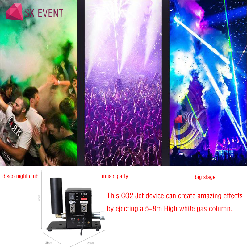 Stage Lighting DJ Equipment Concert Effect dmx512 CO2 Jet Cannon machine Single Pipe Disco CO2 Blaster Jet smoke Special Effects co2 jet machine cryo fx cannon special effects pistola cryo jet co2 blaster special effects dj cryo jet gun cannoon