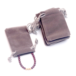 Image 3 - 100pcs/lot Gray Velvet Bag 5x7cm Mini Jewelry Bag Favor Charms Jewelry Packaging Bags Wedding Velvet Drawstring Pouch Gift Bag