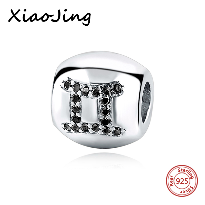 Style; In Popular Brand Gemini Star Sign Charm Beads Diy Fits Pandora Original Charms Bracelet 925 Sterling Silver Jewelry For Women Men Gift Fl417 Fashionable