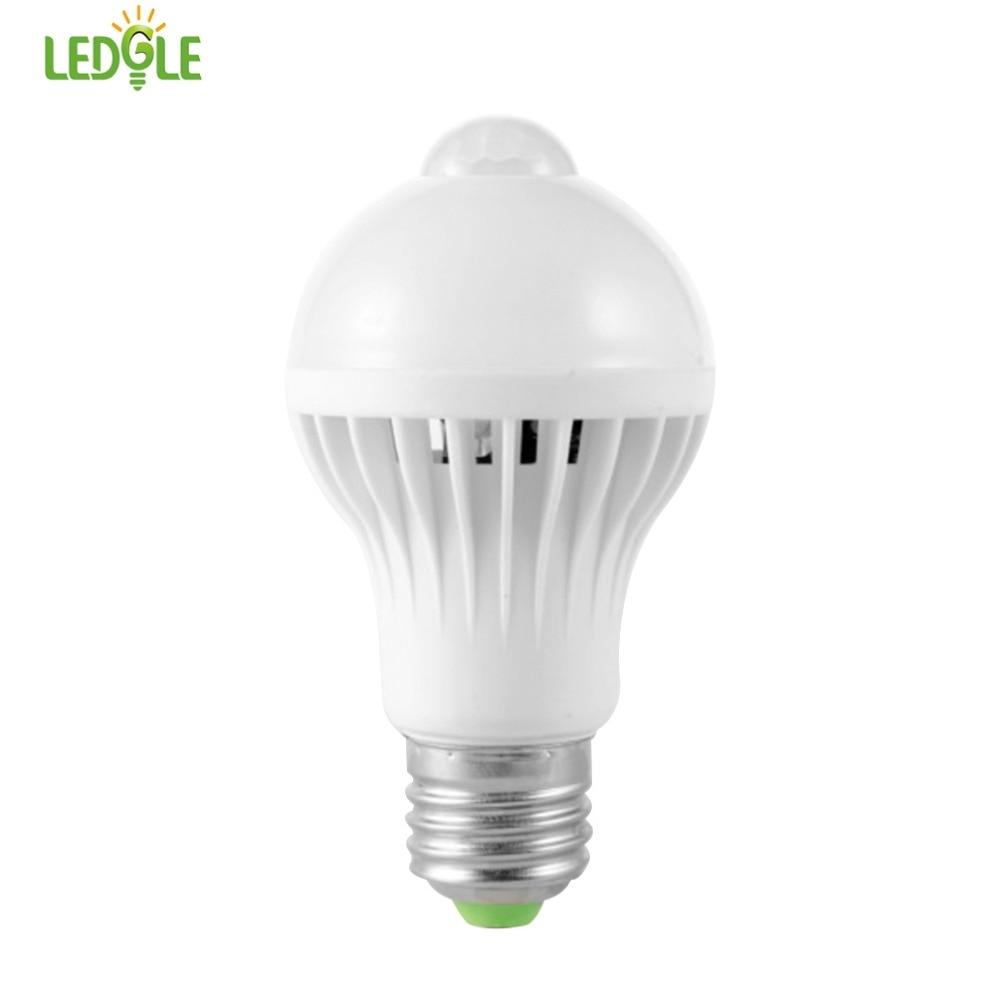 Indoor Led Light Bulbs: Aliexpress.com : Buy LEDGLE 7W LED Bulb Smart Motion