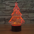 Christmas Tree Night Light in door 7 Color Changing  3D night light  Building light for bedroom  Promotional Gifts