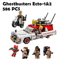 16032 586Pcs The Ghostbusters Ecto-1 & 2 Set With Le Model Building Blocks Bricks Toys ompatible with lego Серия фильмов 75828