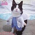 Забавный Хэллоуин pet cat собак доктор костюм косплей весна маленький средний собака щенок партия куртка одежда для собак одежда для Pitbull