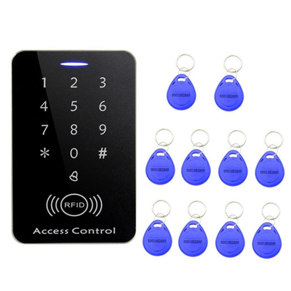 Sistema de Control de Acceso RFID Bloqueo de puerta de entrada de seguridad Bloqueo de distancia de inducción Anti-interferencia fuerte con unids 10 llaveros
