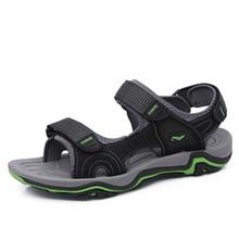 Модные Пляжные Сандалии Высокое Качество Лето кожа мужчины сандалии Из Натуральной кожи коровьей мужской летней обуви человек Zapatos Hombre