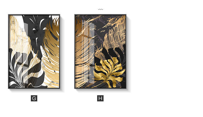 HTB1gB9rXPDuK1Rjy1zjq6zraFXa4 Nordic style Golden leaf canvas painting posters and print modern decor wall art pictures for living room bedroom dinning room