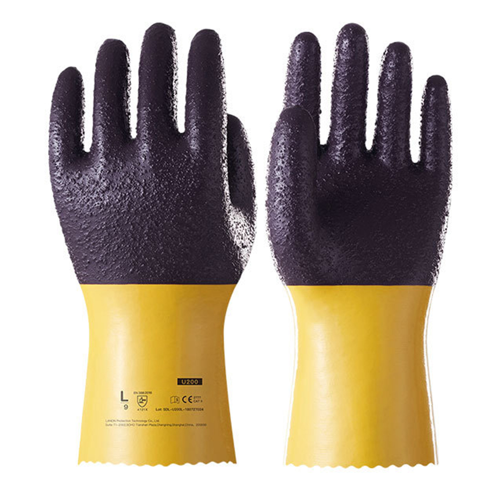 U200 Labor Oil Resistant Durable Reusable Wear Resistant Work Gloves Protection Heavy Duty Thicken Non Slip Safety Anti Aging