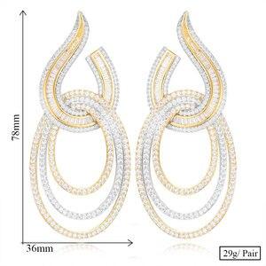 Image 5 - Женские длинные серьги GODKI, свадебные с кубическим Цирконом