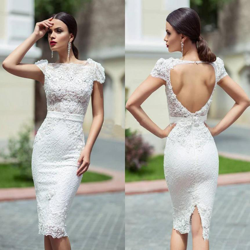Sexy Backless Wedding Dresses Short