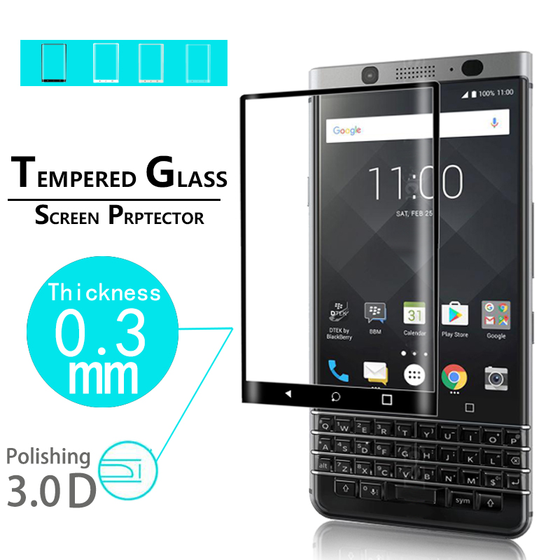 Premium Full Coverage 3D Curved Tempered Glass Film for Blackberry keyone glass film for blackberry keyone Screen Protector film(China)