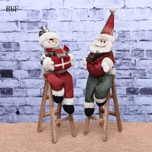 BUF Christmas Decoration Supplies Christmas Santa Claus Decor Christmas Ornaments Crafts Accessories Christmas Gift